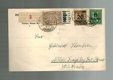 1923 Stuttgart Germany Inflation Postcard cover to Honau 31000 RM
