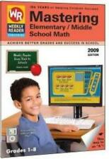 Mastering Elementary & Middle School Math Grades PC MAC DVD home school learning