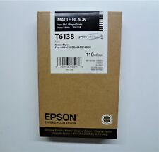 Epson T6138 schwarz matt Stylus Pro 4400 4450 4800 4880 ------------ OVP 08/2018
