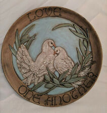 Beautiful Love One Another Doves Decorative Plate Christian Home Decor 13""