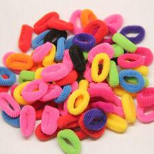 100pcs/bag elastic Rope Ring Hairband Women Girls Hair Band Ponytail Holder tool