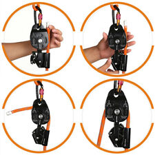 Safety Self-braking Stop Heavy Lifting Pulling Pulley Rock Outdoor Rescue Gear