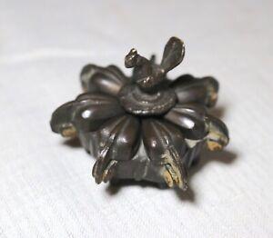antique handmade Hindu Indian brass bronze Kumkum ritual figural spice box jar