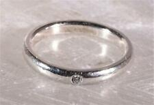 Tiffany & Co Elsa Peretti Sterling Silver Diamond Band Stack Ring Size 5.75