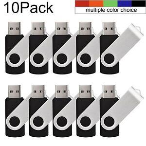10 Stück USB Stick 16GB Speicher 2.0 Flash Drive Memory Swivel Thumb Mrtall Pen