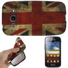 TPU Case für Samsung S7272 Galaxy Ace 3 Retro Flagge England Etui Hülle Cover