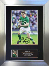 More details for brian o'driscoll signed autograph mounted photo repro a4 print 572