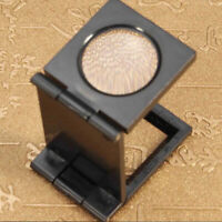 10X 28mm Folding Magnifier Stand Loupe with Scale for Textile Optical Glass ToFR