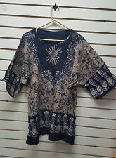 African Clothes/Hippie/Hippy/Unisex/Dashiki Shirt/Dragon GRYMULCLRDASH12G-NC26E