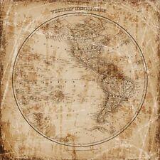 ART PRINT Antique Map Western Hemisphere Mauro Cardoza 12x12 Haddads