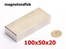 Blockmagnet Neodym-Magnete 100x50x20 Quader