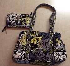 Vera Bradley Squared Away Style Shoulder Bag Purse & Turn Lock Wallet In Baroque