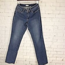 Coldwater Creek Womens Jeans Size 10 Straight Slim Tapered Leg Medium Wash