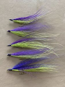 Bucktail River Streamer Flies- Hand Tied - Walleye, White Bass, Salmon (504)