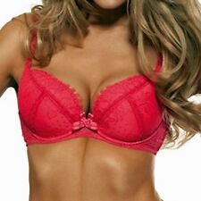 Womens Gossard Passion Sexy Padded Plunge Full Cup Underwired Lace Red Bra