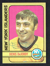 Denis DeJordy #144 signed autograph auto 1972-73 Topps Hockey Trading Card