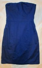 Blue bandeau strapless dress mini size 8 navy s small party dark block colour