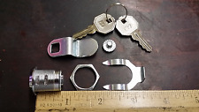 Metal Cabinet Chrome Cam Lock with 2 Keys & Retaining Clip Very Easy to Install