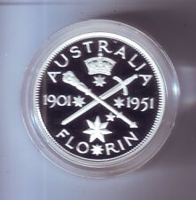 1998 SILVER Proof 20 Cent of 1951 Florin Coin Australia Masterpieces