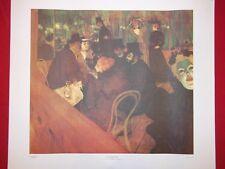 Henri de Toulouse-Lautrec AT THE MOULIN ROUGE 1892 Litho