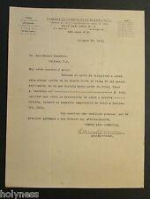 ANTIQUE LETTER / CAMARA DE COMERCIO DE PUERTO RICO / SAN JUAN PR / 1915