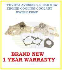 TOYOTA AVENSIS 2.0 D4D 2003-2006 ENGINE COOLING COOLANT WATER PUMP 16100-29185