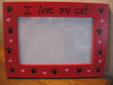 PERSONALIZED - I LOVE MY CAT - pet photo picture frame