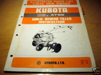 Kubota AT55 AT 55 Walk Behind Tiller Parts Manual