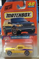 Matchbox 68 Mustang Cobra Jet Yellow #40-75 NIP HTF !!!