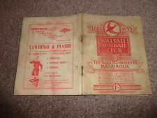 WALSALL FOOTBALL CLUB Walsall Observer Handbook 1888 to 1955   64 pages