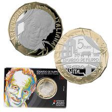 5€ ITALIA 2020 PROOF Eduardo De Filippo 2020 Spedizione immediata !!