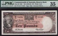 Australia R-63.(1960) 10 Pounds-Coombs/Wilson. Reserve B CHOICE VERY FINE PMG 35