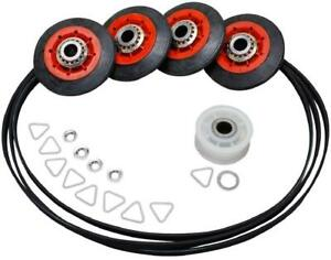 "4392067 PS373088 Dryer Kit w/ 4 Rollers Pulley & 93.5"" Belt (661570) Quality"