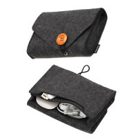 Travel Felt Pouch Power Bank Storage Bag Data Cable Organizer Key Coin Package M
