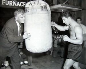 ROCKY MARCIANO & JAMES BRADDOCK 8X10 PHOTO BOXING PICTURE