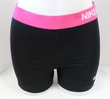 """New NIKE Women Dri Fit """"Nike Pro"""" 3"""" Short  Black/Pink 696358-018 ** (sz XS,XL)"""