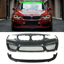 M4 Style Front Bumper W/ PDC Holes For BMW F32 F33 F36 4 SERIES 14-19