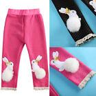 Newborn Baby Girl Kids Polka-dot Rabbit Warm Thickening Leggings Pants 0-3 Years