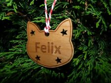 Personalised Cat Christmas Bauble Decoration : Cat Memorial Tree Ornament