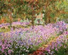 Usa - Diy Paint by Number Kit Acrylic Painting Home Decor - Irises Monet Garden