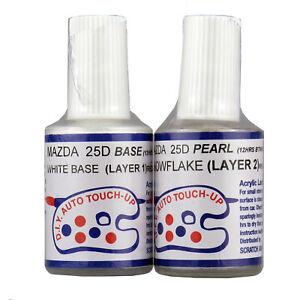 NEW Mazda Touch Up Paint - 25D Snowflake White Pearl Mazda 2 3 6 CX3 CX5 CX7 CX9