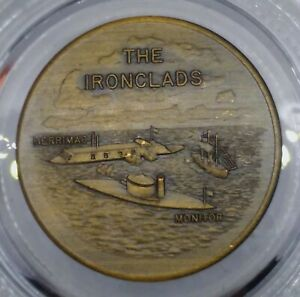 BATTLE OF THE IRON CLADS - MOST FAMOUS IN NAVAL HISTORY TOKEN MEDAL