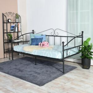 Day Bed Solid Metal Bed Frame 3ft Single bed Sofa Guest Bed Sustainable Daybed