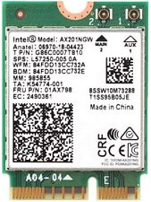 INTEL AX201NGW DUAL BAND Wi-Fi 5.0 AND 2.4GHZ + BLUETOOTH NETWORK CARD NEW