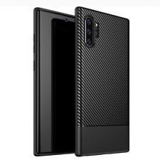 For Samsung Galaxy Note 10 / 10 Plus 360 Case Slim Shockproof Carbon Fiber Cover
