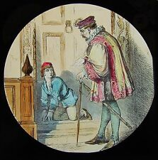 COLOUR Glass Magic Lantern Slide DICK WHITTINGTON NO2 C1890 VICTORIAN DRAWING