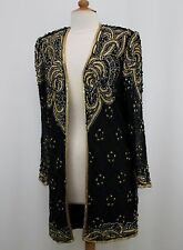 Jasdee Vintage Sheer Long Sleeve Jacket Hand Work Beading On Lace Style 5052