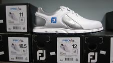 FootJoy Pro SL Mens Spikeless Golf Shoes Sz 12M White/Silver/Blue