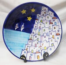 Vietri Pottery-12,1/2inch bowl Positano Pattern.Made/Painted by hand in Italy