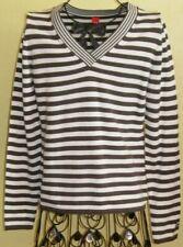 21 ) Toller Braun Weiß gestreifter Damen Pullover Gr. S der Firma Esprit